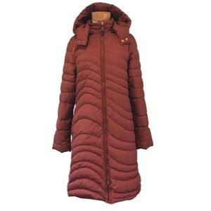 """Patagonia """"Down With It"""" Maroon Parka"""